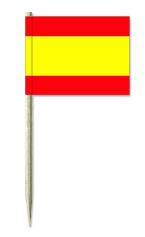 "Werbeartikel: Themendekoration Spanien=Minifahnen ""Spanien"", Picker Spanien, Holz-picker Spanien,"