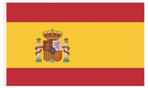 """Werbeartikel: Themendekoration Spanien=Polyesterfahnen """"Spanien"""","""