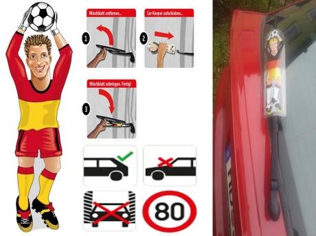 Werbeartikel: Themendekoration Spanien=Spanien Torwart Heckscheibenwischer,