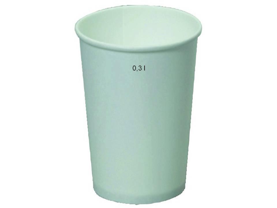 Werbeartikel: Weiß Becher, Weiß Papp-becher,=Kaffeebecher 0,3l, Weiß Pappbecher,