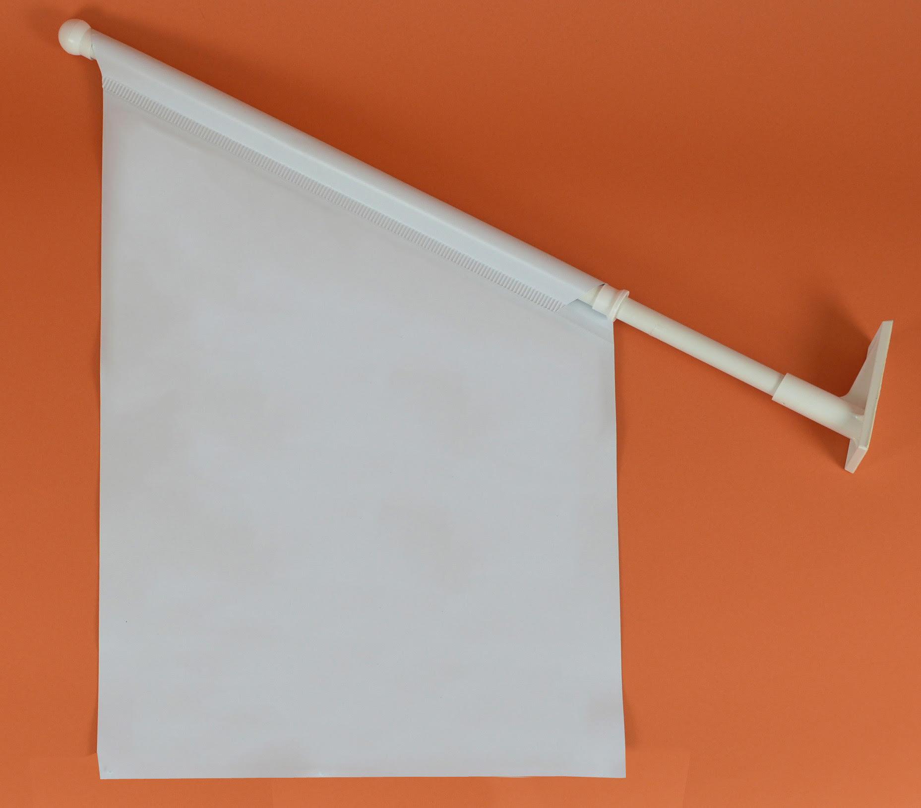 Werbeartikel: Weisse Artikel ab Lager=Kioskfahnen Weiss, Kioskfahnen Weiß,