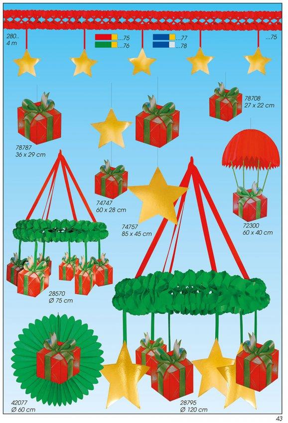 Werbeartikel: Weihnachten deko,=Papier weihnachten Laden,