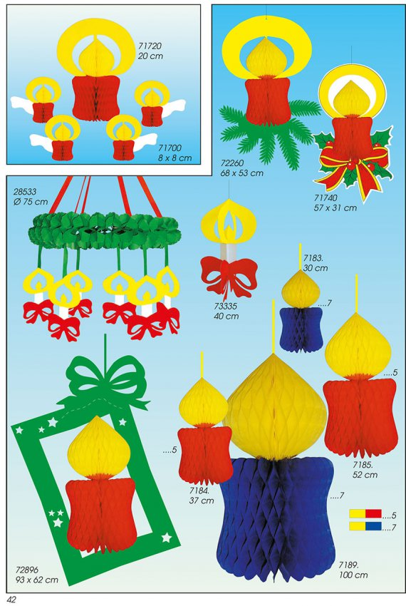 Werbeartikel: Weihnachten deko,=Papier Deko kerzen, Deko kerzen,