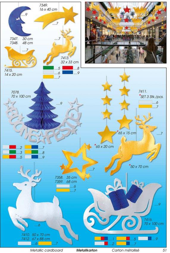 Werbeartikel: Weihnachten deko,=Papier Weihnachten schlitten,