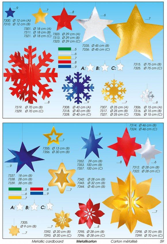 Werbeartikel: Weihnachten deko,=Papier weihnachten stern,