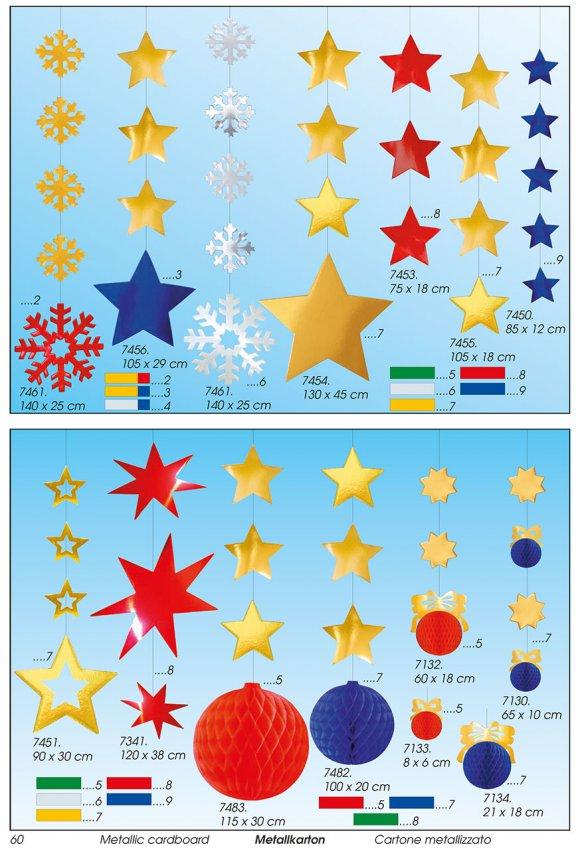 Werbeartikel: Weihnachten deko,=Papier weihnachts stern deko,