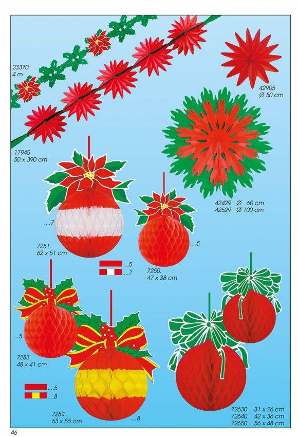 Werbeartikel: Weihnachten deko,=Papier weihnachtskugeln deko,