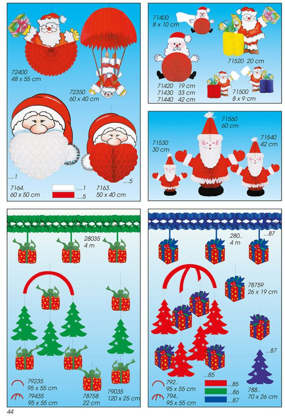 Werbeartikel: Weihnachten deko,=Papier weihnachtsmann Deco,