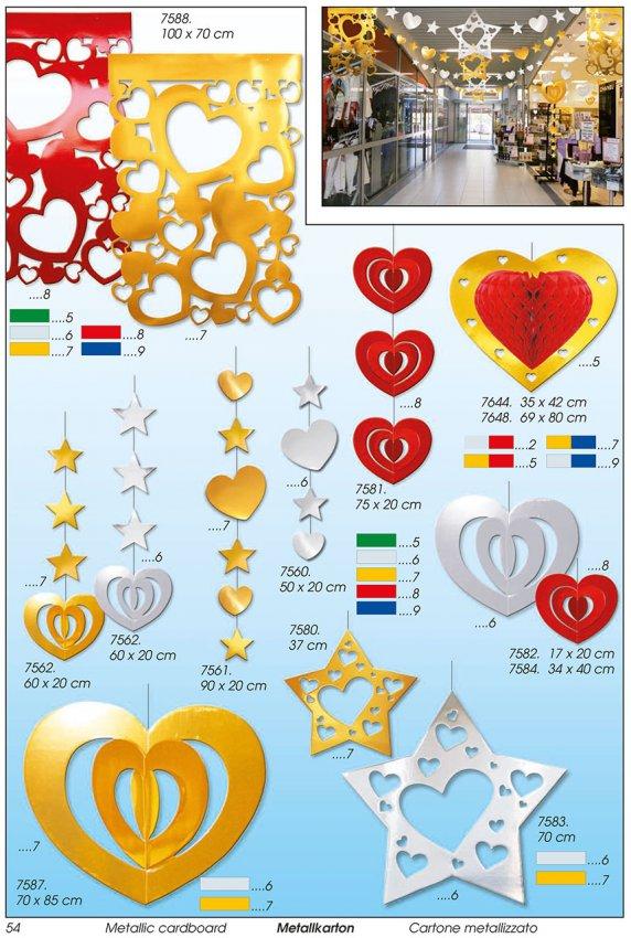 Werbeartikel: Weihnachten deko,=Weihnachten papier deko Herz,