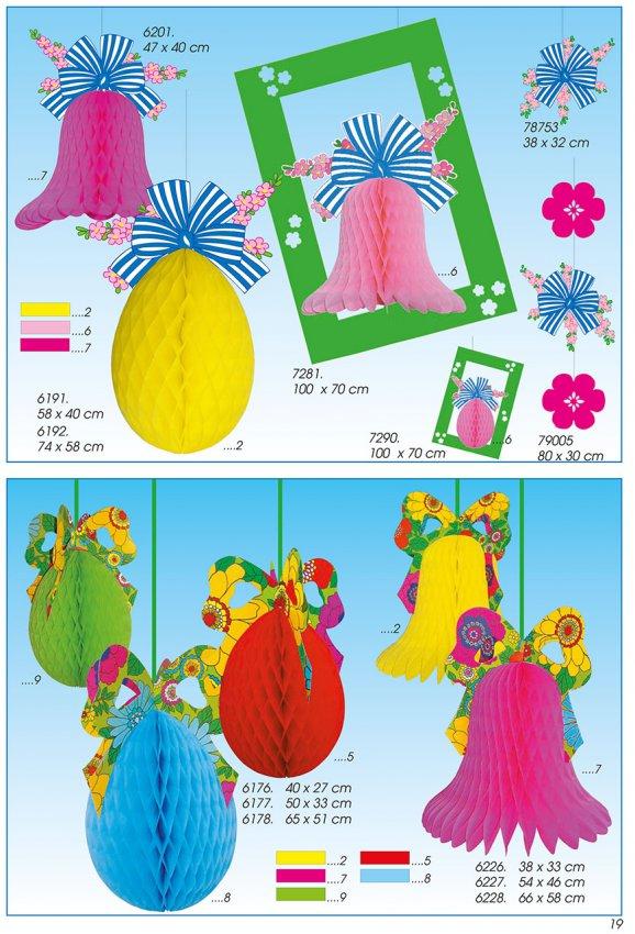 Werbeartikel: Oster-deko, Dekoartikel Ostern,=Ostern Seidenpapier Artikel