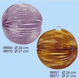 Werbeartikel: Laternen=Ballonlaterne Silver, Ballonlaterne Gold,