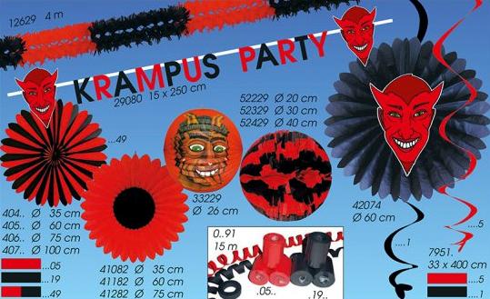 Werbeartikel: Halloween Artikel,=Krampus party