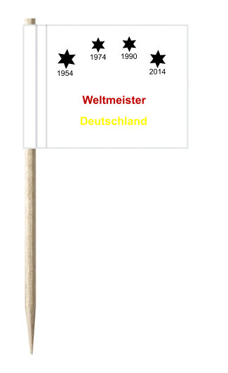 Werbeartikel: Weltmeister Deutschland, Minifahnen Weltmeister Deutschland,