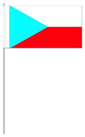 Werbeartikel: Euro Papierfahnen,=Tschechien Papierfahnen,