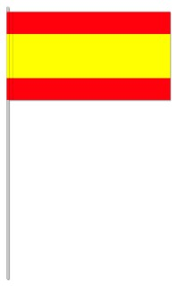 Werbeartikel: Euro Papierfahnen,=Spanien Papierfahnen,