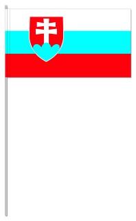 Werbeartikel: Euro Papierfahnen,=Slowakei Papierfahnen,