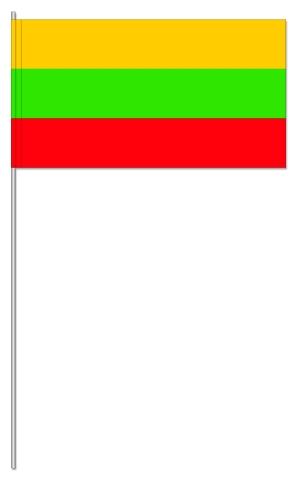 Werbeartikel: Euro Papierfahnen,=Papierfahnen Litauen,