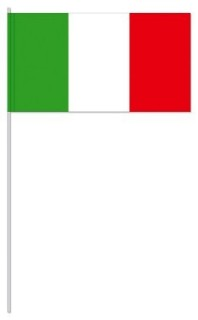 Werbeartikel: Euro Papierfahnen,=Italien Papierfahnen,