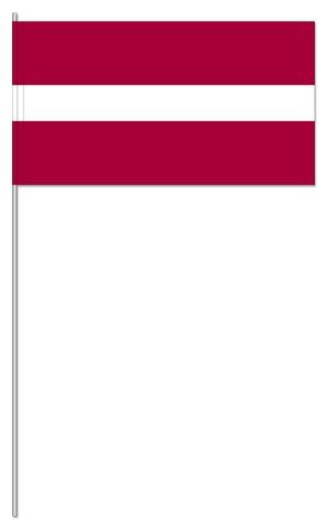 Werbeartikel: Euro Papierfahnen,=Lettland Papierfahnen,