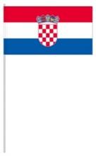 Werbeartikel: Euro Papierfahnen,=Kroatien Papierfahnen,