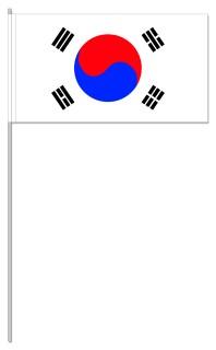 Werbeartikel: Süd-Korea Papierfahnen,