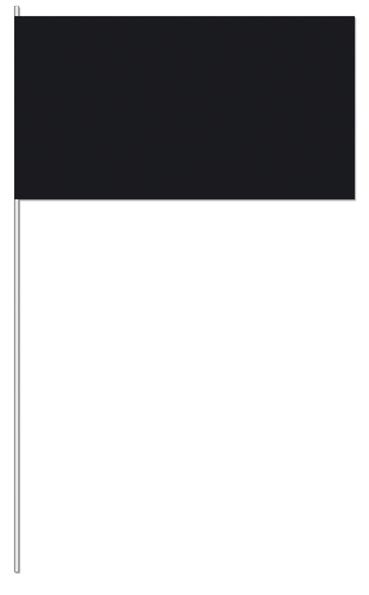 Werbeartikel: UNI Papierfahnen,=Schwarz Papierfahnen