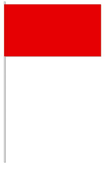 Werbeartikel: UNI Papierfahnen,=Rot Papierfahnen