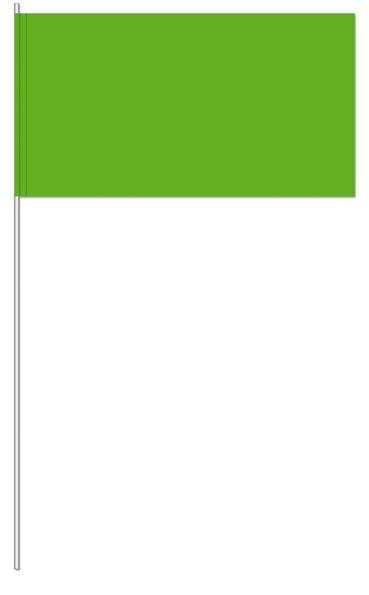 Werbeartikel: UNI Papierfahnen,=Grün Papierfahnen