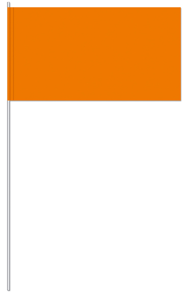 Werbeartikel: UNI Papierfahnen,=Orange Papierfahnen