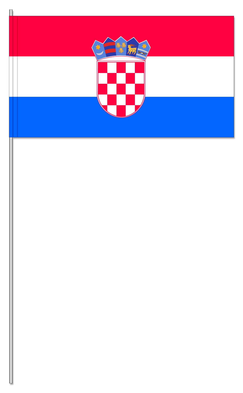 Werbeartikel: Kroatien Papierfahnen,