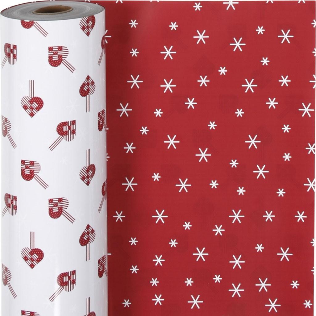 Werbeartikel: Geschenk-papier weihnachts,=Geschenk-papier mit zwei verschieden
