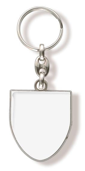 Werbeartikel: Schlüsselanhänger Wappen Weiss