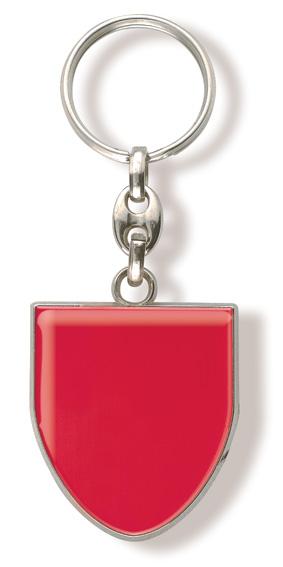 Werbeartikel: Schlüsselanhänger Wappen-Metal=Schlüsselanhänger Wappen Rot