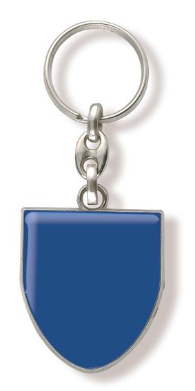 Werbeartikel: Schlüsselanhänger Wappen-Metal=Schlüsselanhänger Wappen Blau