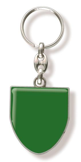 Werbeartikel: Schlüsselanhänger Wappen grün