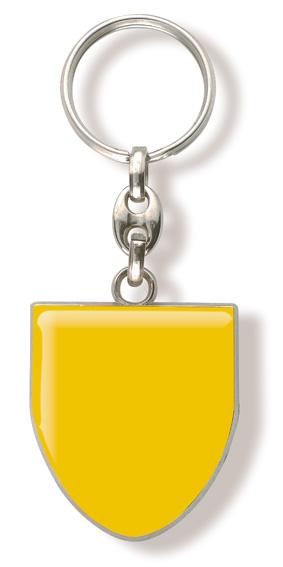 Werbeartikel: Schlüsselanhänger Wappen-Metal=Schlüsselanhänger Wappen gelb