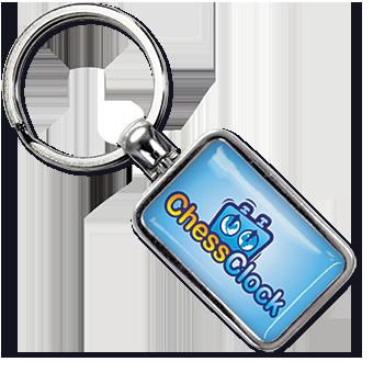 Werbeartikel: Metall-Schlüsselanhänger=Schlüsselanhänger Chapaux,