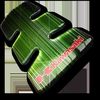 Werbeartikel: Motorrad Tankpads=Motorrad Tankpad Kawasaki