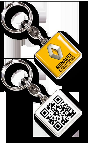 Werbeartikel: Metall-Schlüsselanhänger=Metall-Schlüsselanhänger QR-Event,
