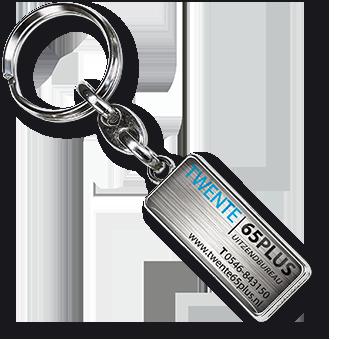 Werbeartikel: Metall-Schlüsselanhänger=Schlüsselanhänger Rexto-Metall,