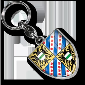 Werbeartikel: Metall-Schlüsselanhänger=Schlüsselanhänger Wappen-Metal