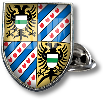 Werbeartikel: Pins=Pins Schild, Pins Wappen,
