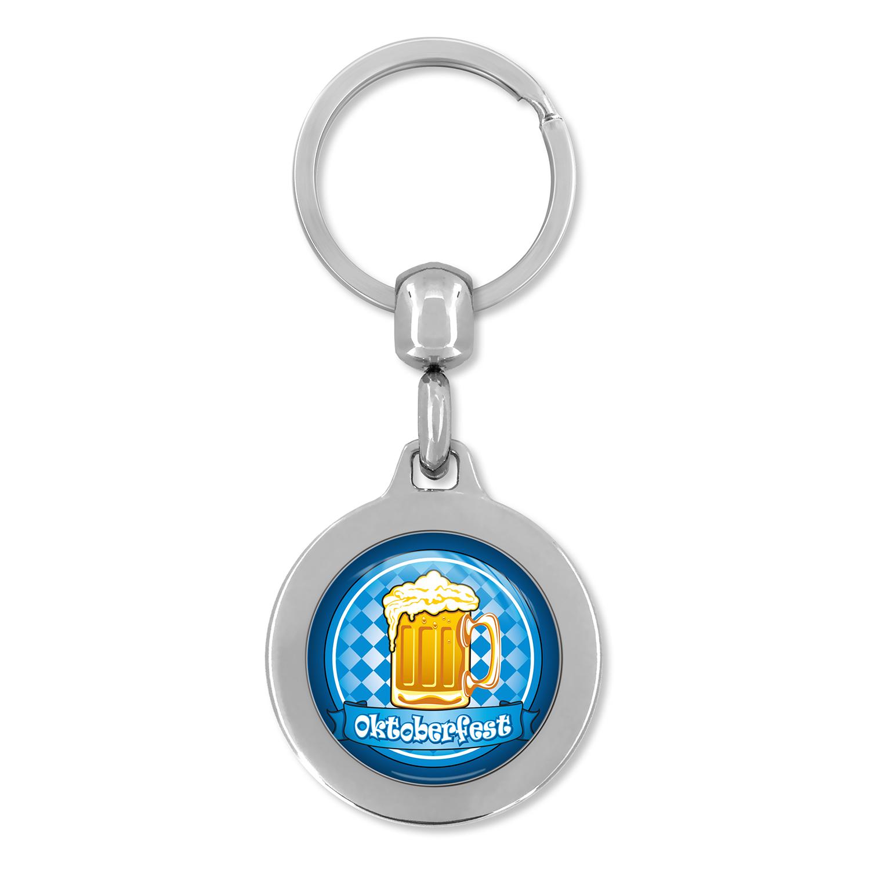 Werbeartikel: Metall-Schlüsselanhänger=Schlüsselanhänger Oktoberfest
