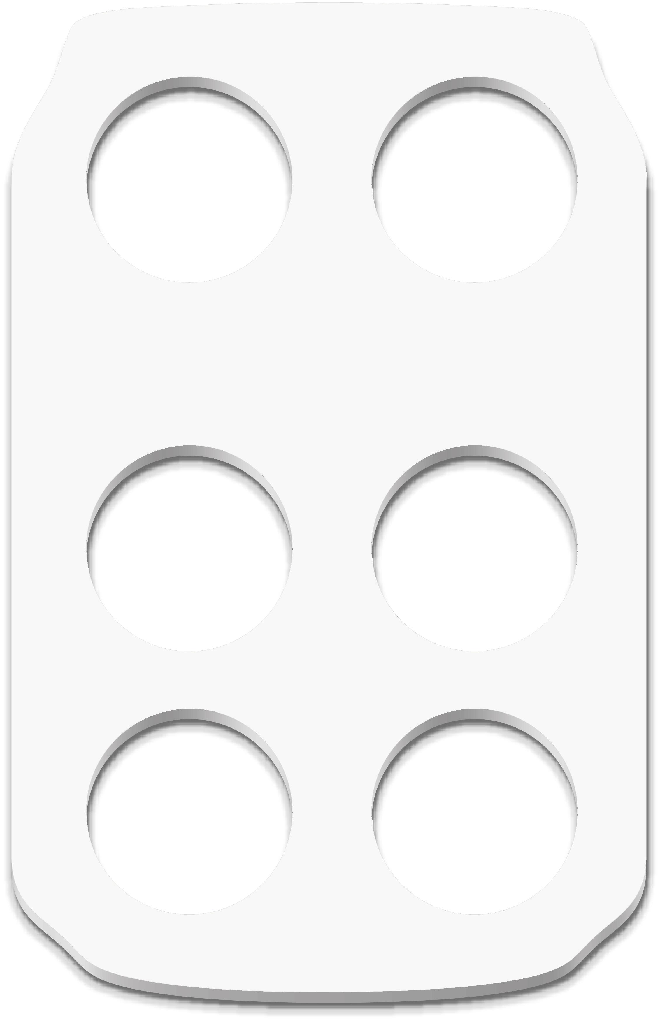 Werbeartikel: Weisse Artikel ab Lager=Becher-halter in Weiss
