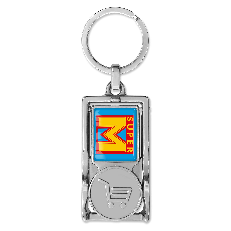 Werbeartikel: Einkaufswagen  schlüssel,=Multifunktionaler Schlüsselanhänger