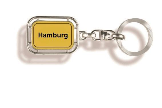 Werbeartikel: Orts Schlüsselanhänger=Hamburg Schlüsselanhänger