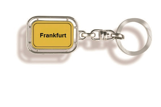 Werbeartikel: Orts Schlüsselanhänger=Frankfurt Schlüsselanhänger
