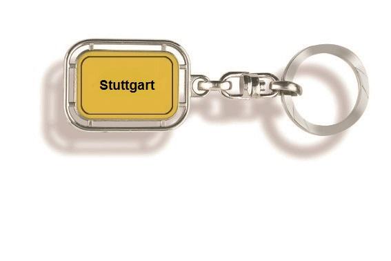Werbeartikel: Orts Schlüsselanhänger=Stuttgart Schlüsselanhänger