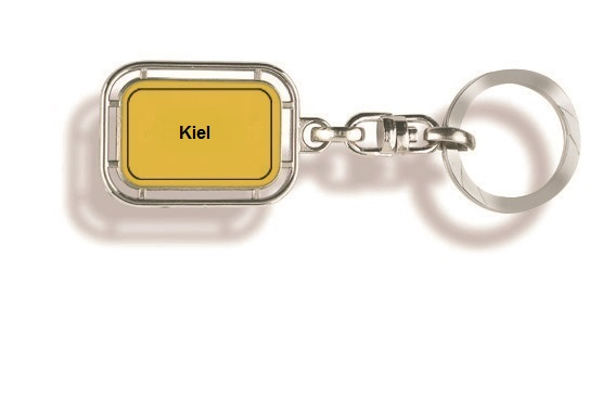 Werbeartikel: Orts Schlüsselanhänger=Kiel Schlüsselanhänger