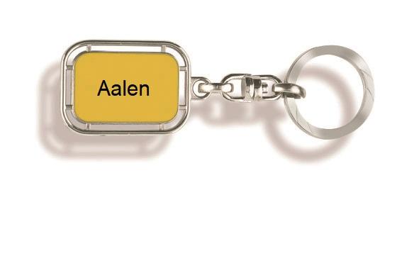 Werbeartikel: Orts Schlüsselanhänger=Schlüsselanhänger Aalen